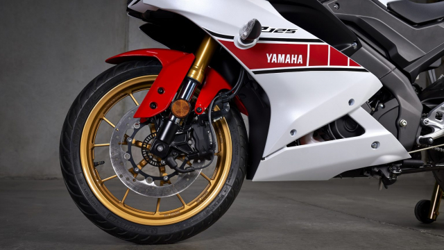 Can canh Yamaha R125 2022 phien ban Ky niem trang bi an dut R15 than thanh - 9